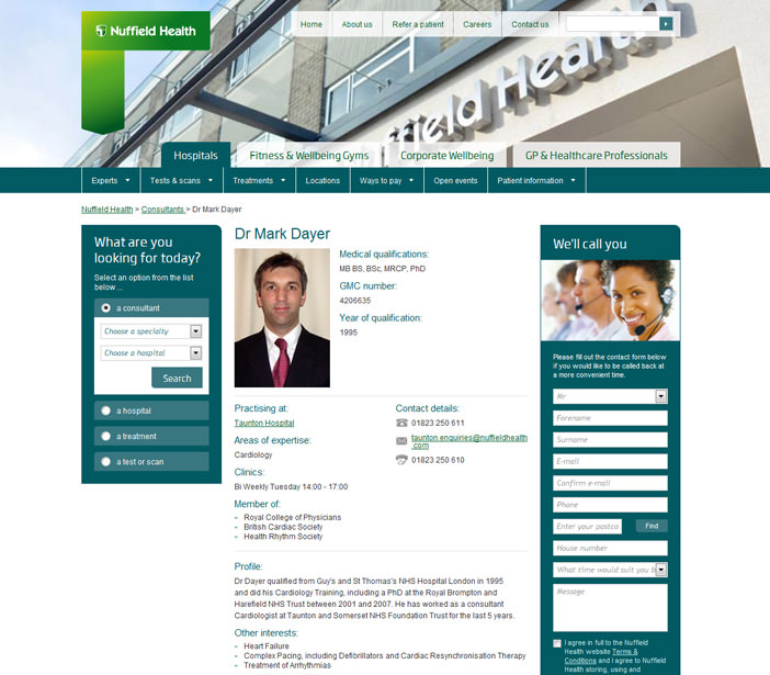Nuffield Health - Conusltant Details