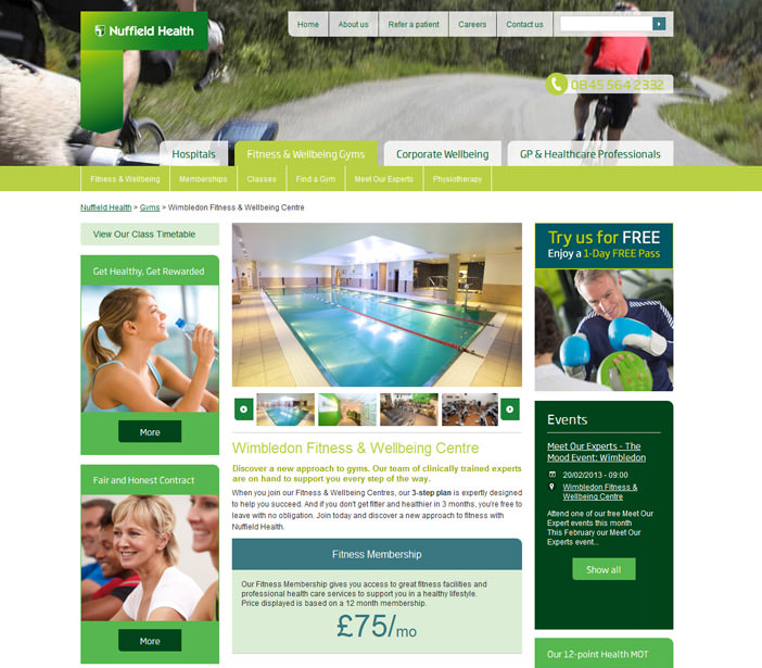 Nuffield Health - Fitness Details