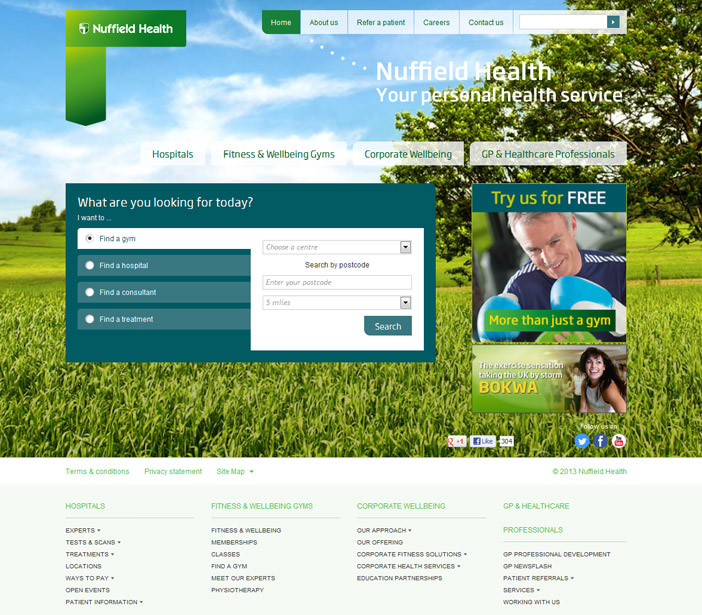 Nuffield Health - Homepage