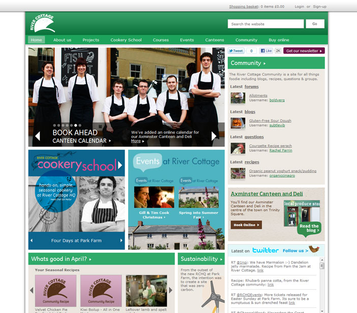 River Cottage - Homepage